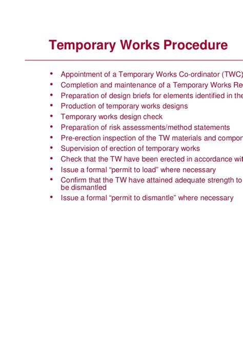 managing temporary works andrea robbins hse
