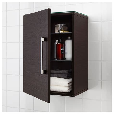 Brown Bathroom Storage Godmorgon Wall Cabinet With 1 Door Black Brown 40x32x58 Cm Ikea