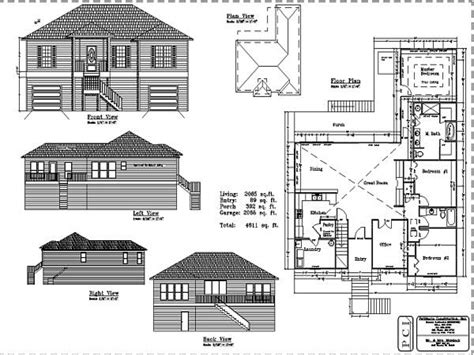 house with floor plans and elevations elevation and floor plan of a house escortsea
