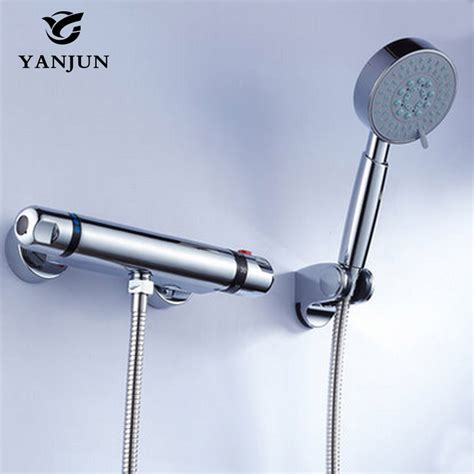 yanjun shower faucet sets modern thermostatic bathroom