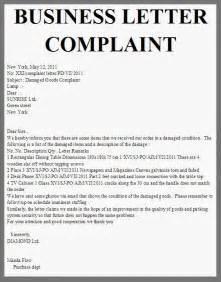 Business Letters Complaint Business Letter Business Letter Complaint