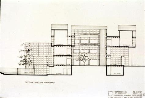 House Architecture Drawing Raj Rewal B Amp W Drawing Cross Section Archnet