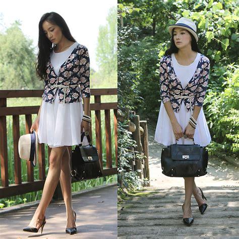 Becky Korean Bag becky baek flower cardigan white one fedora