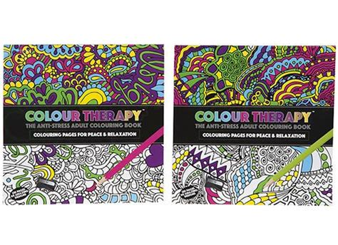 color therapy an anti stress coloring book hardcover dynergy colour therapy anti stress colouring book