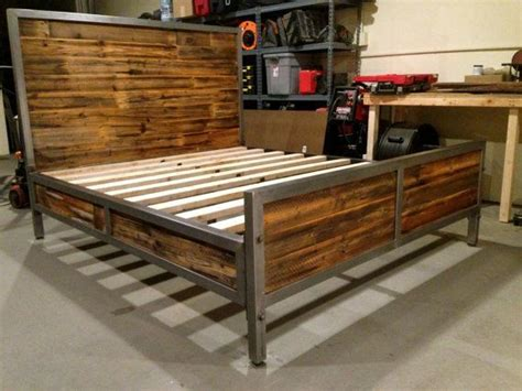 wood and metal bed frame best 25 pipe bed ideas on industrial bed