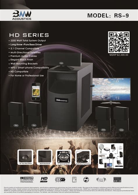 bnw acoustics rs  home theater system bnw acoustics