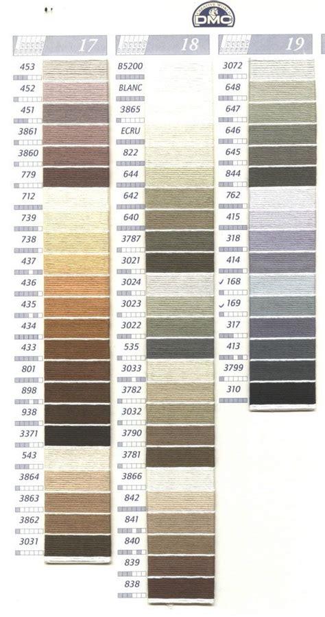 dmc color chart 23 best tabla colores dmc images on punto de