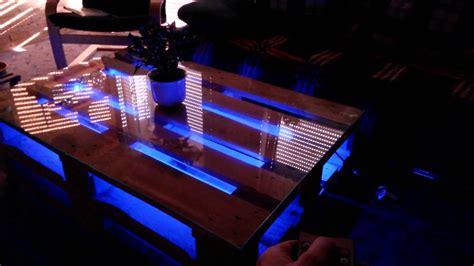 diy europaletten tisch mit led beleuchtung youtube