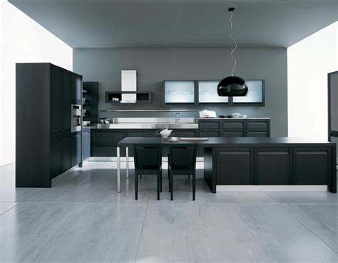 modern black kitchen modern island kitchen decosee
