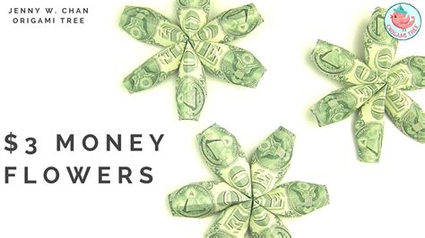 Money Origami How To - diy how to fold 3 flower money dollar origami paper