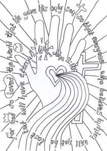 flame creative children s ministry john 3 16 verse to colour