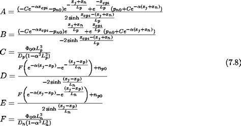 diode equation empirical form quantum efficiency of a vertical junction diode