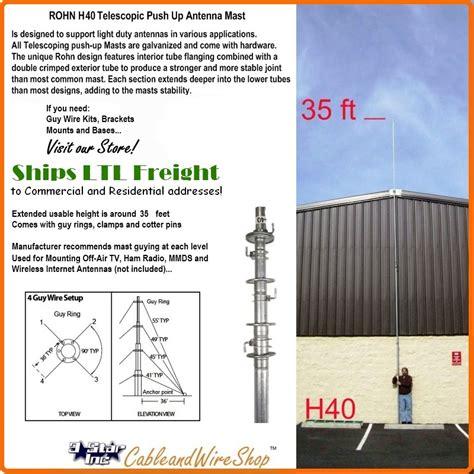 rohn  telescopic antenna push  tv wireless internet