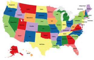 Labeled State Map by 50 States Map Labeled
