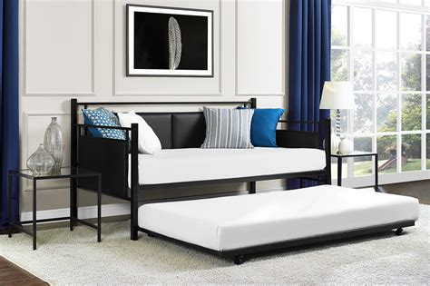 dhp furniture astoria metal and upholstered daybed and