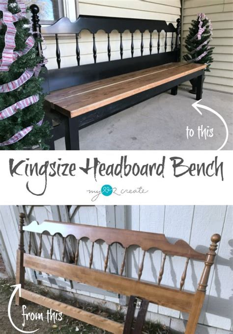 how to make a bench from a headboard how to build a kingsize headboard bench easy step by step