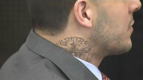 aaron hernandez tattoos meaning aaron hernandez sports neck at court hearing