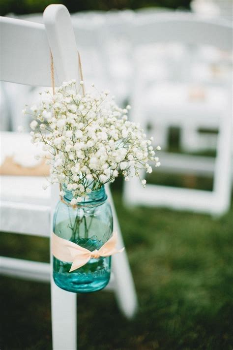 Baby's Breath for summer wedding, flowers Aisle decoration