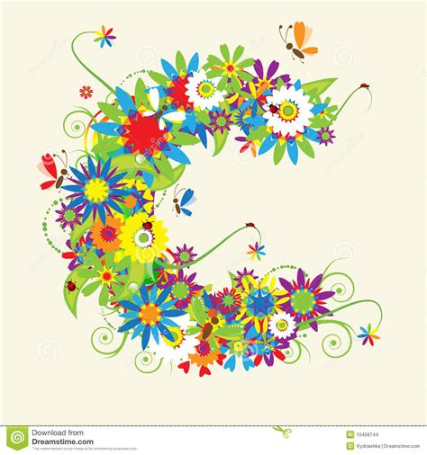 letter c floral designs google search objects keeper