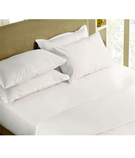 percale bed sheets maspar solid percale white king size bed sheet buy