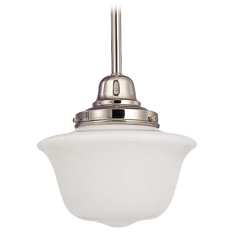Schoolhouse Style Pendant Lighting 8 Inch Retro Style Mini Pendant Light With Schoolhouse Glass Ebay