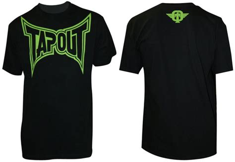 tapout classic t shirt black green