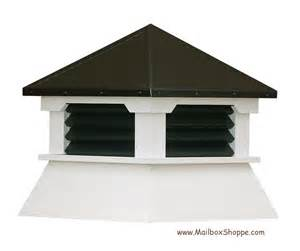 vinyl shed cupola with painted aluminum roof louvers