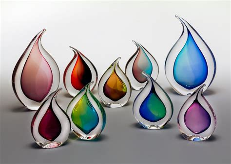 teardrop glass ornaments by remigijus kriukas boha glass