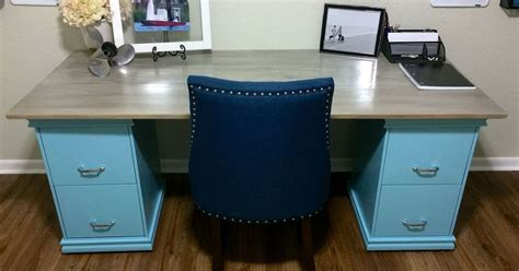 Diy Filing Cabinet Desk Hometalk Diy Desk With File Cabinets