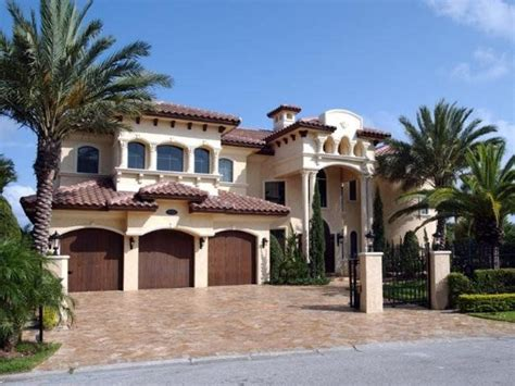 Spanish Hacienda Style Homes Spanish Mediterranean House Plans Spanish Mediterranean