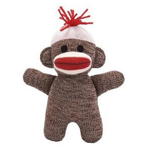 sock plush sock monkey baby 7 inch brown plush schylling sock