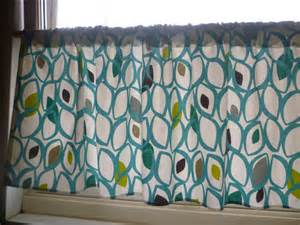 Teal Valance Teal Curtain Valance Cafe Curtain Rod Pocket Ruched 54 X