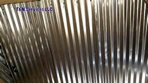 Galvanized Barn Tin Corrugated Metal Ceiling Install Youtube