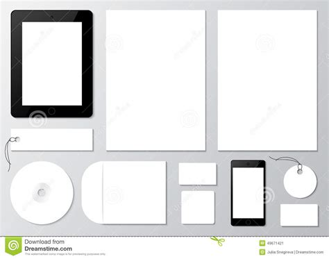 template mockup card set empty set mockup of corporate identity elements stock