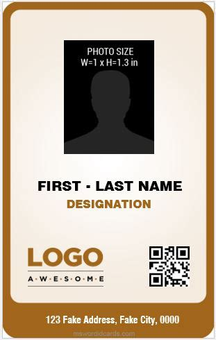 portrait id card template image collections template