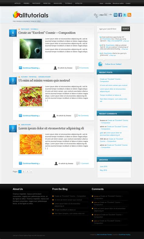 alltuts wordpress theme download it for free from site5