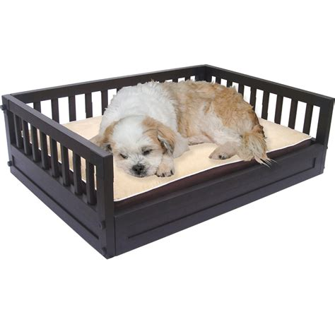 high dog beds elevated pet bed espresso in pet beds