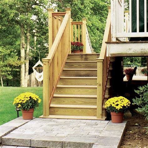 homedepot premade deck stairs for homy rustic pathway