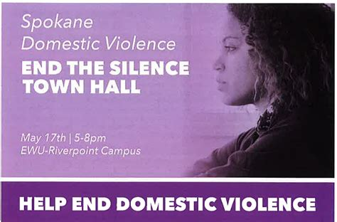 end the silence with domestic violence ywca spokane spokane domestic violence town hall focuses on how to