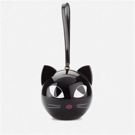 Lulu Guinness Perspex Clutch by Lulu Guinness S Kooky Cat Perspex Orb Clutch Black