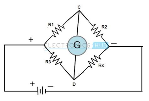 wheatstone bridge of resistors wheatstone bridge circuit theory exle and applications