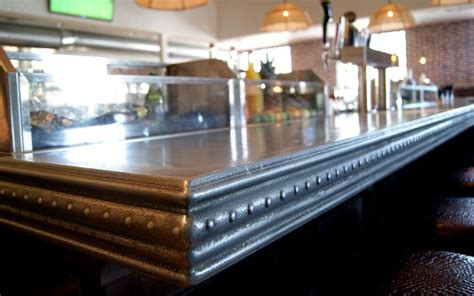zinc bar top zinc bar top custom design commercial interiors
