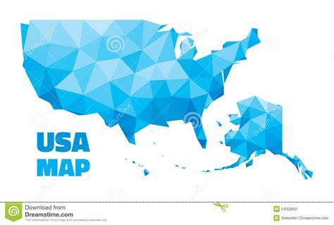 map usa vector abstract usa map vector illustration geometric