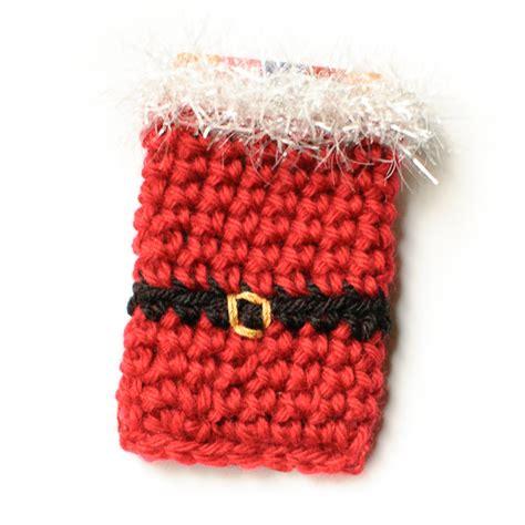 Crochet Christmas Gift Card Holder - santa crochet gift card holder pattern petals to picots