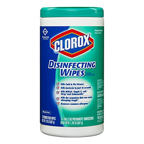 clorox disinfecting wipes fresh scent pack   wipes  office depot officemax