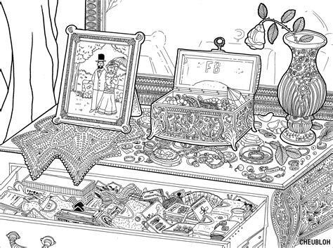 jewelry box fashion coloring pages