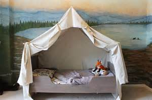 How To Build A Tent Remodelaholic Camping Tent Bed In A Kid S Woodland Bedroom