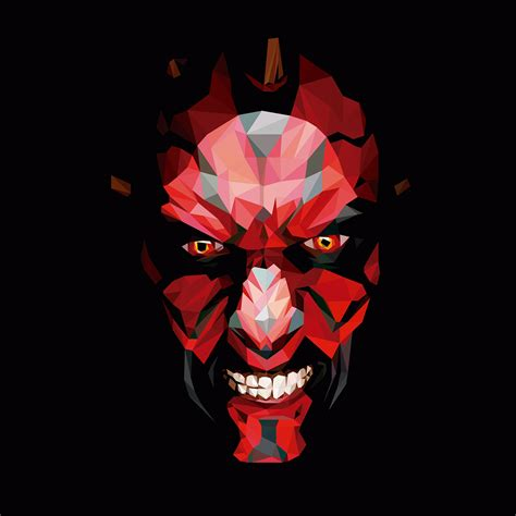 maul low poly on behance