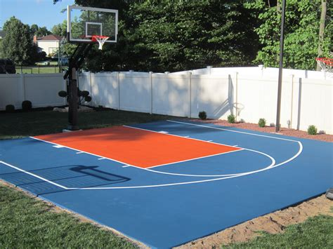 backyard basketball court this is another knicks backyard basketball court we did at