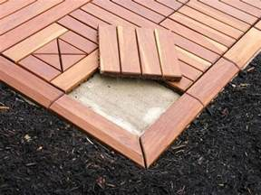 restore your concrete patio with an overlay of modular outdoor decking tiles outdoor living